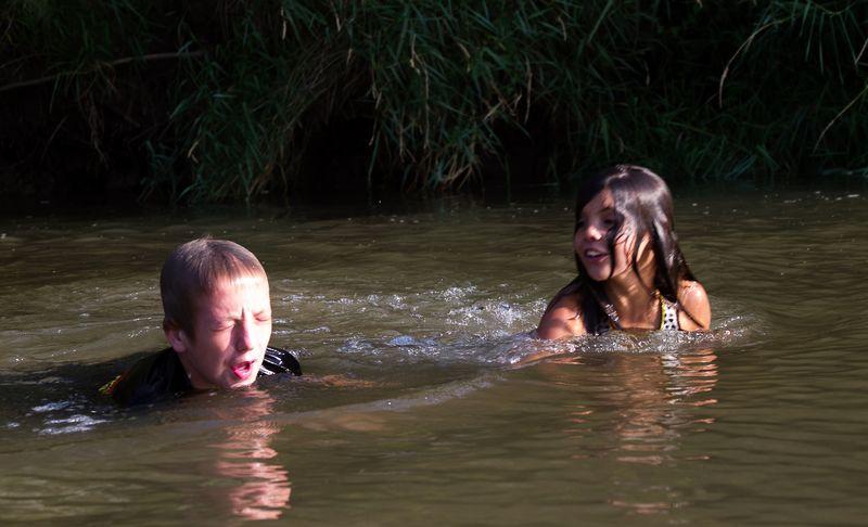 Swimming in the Republican River near Bloomfield Nebraska-0867