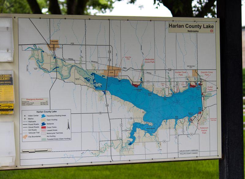 Harlan County Lake Map-9659