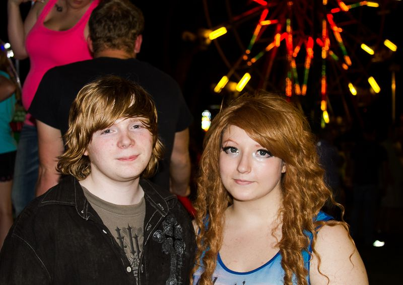 Grace and Jacob at the Watermelon Festival Carnival-1090