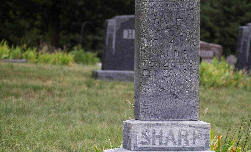 Galen Sharp buried in Bloomington Nebraska Cemetery-9760