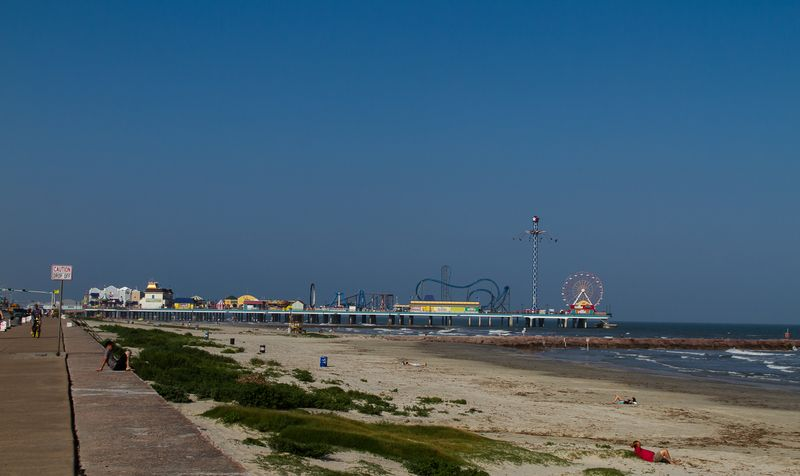 Pleasure Pier from the Beach in Galveston (1 of 1)