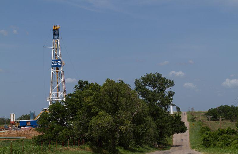 Drilling rig on Baseline Road-6875