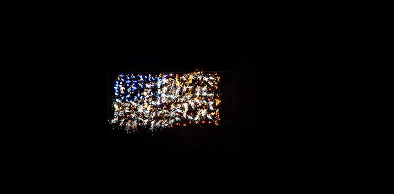 Flag of Fireworks at Marlow Oklahoma by Joy Franklin Photography-8139