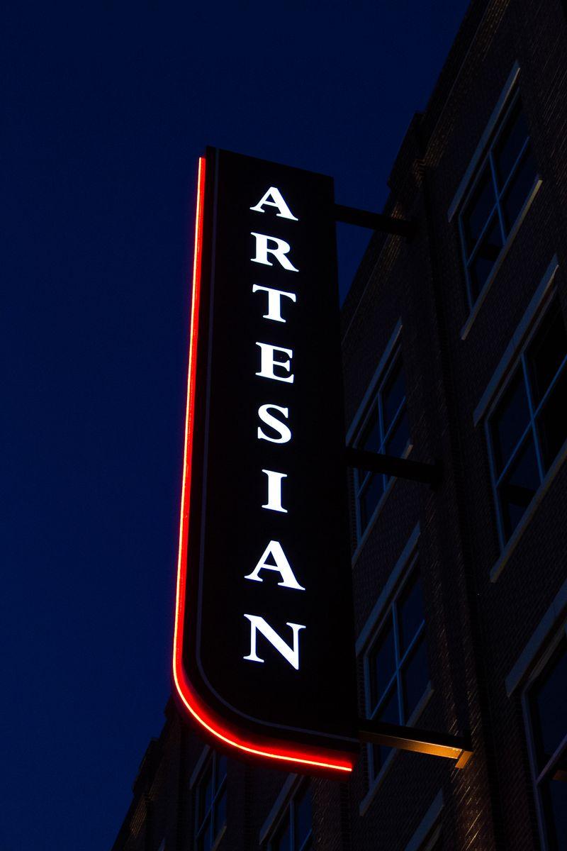 Artesian Hotal at Dusk in Sulphur Oklahoma-1190