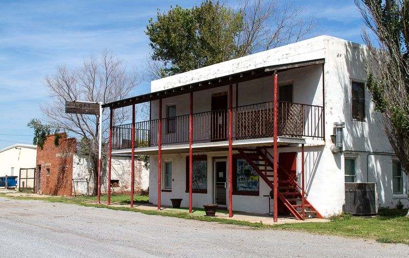 Old Hotel in Taloga Oklahoma-1301