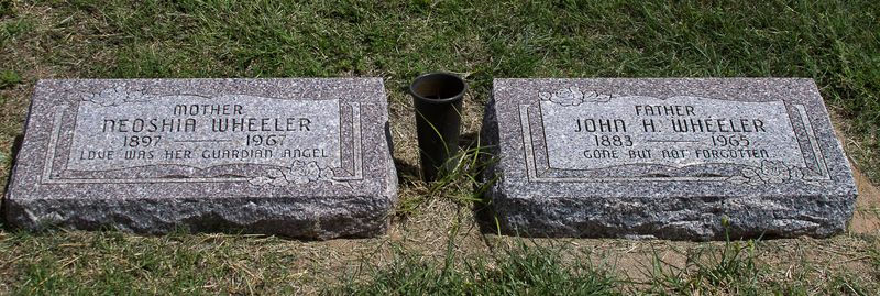 Neoshia and John Wheeler's Graves in Watonga Oklahoma-1322
