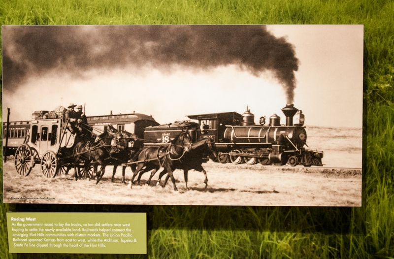 Old train photo at the flint hills museum-4854