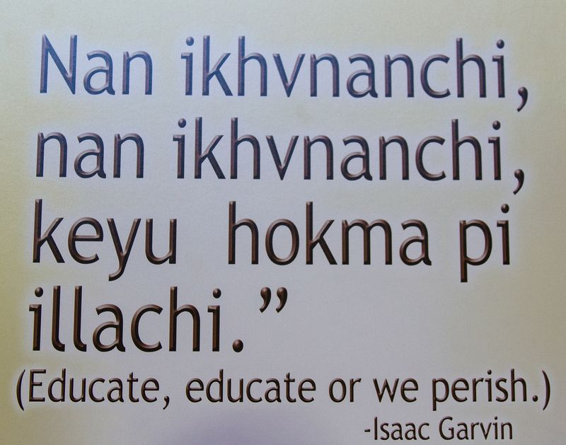 Educate, Educate or we perish in Choctaw-6096