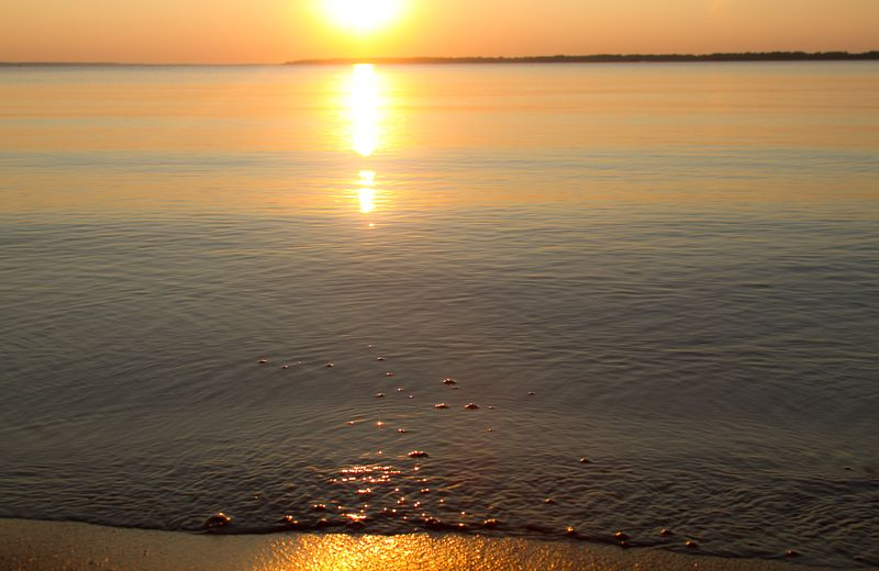 Beautiful Sunset on Harlan County Lake in Nebraska-9937