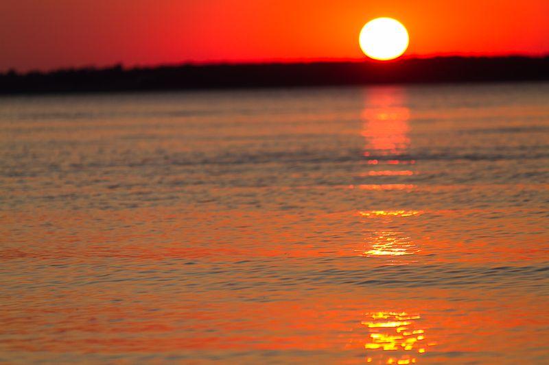 Nebraska Sunset over Harlan CountyLake -0085