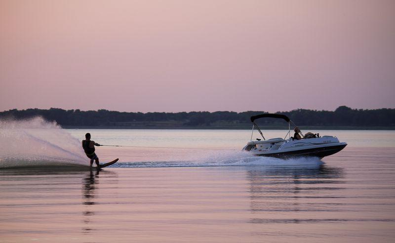 Harlan County Lake in Nebraska at Sunset-0023