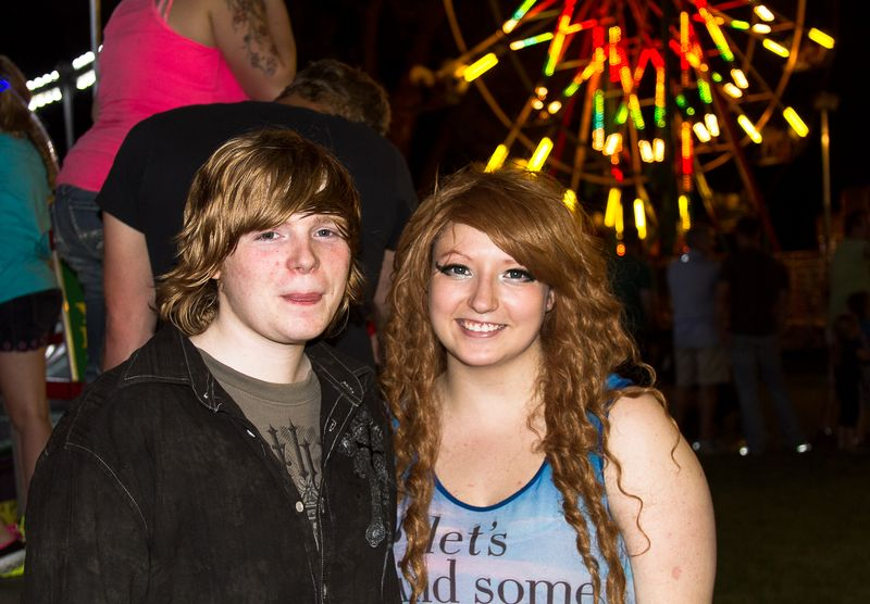 Grace and Jacob at the Watermelon Festival Carnival-1091