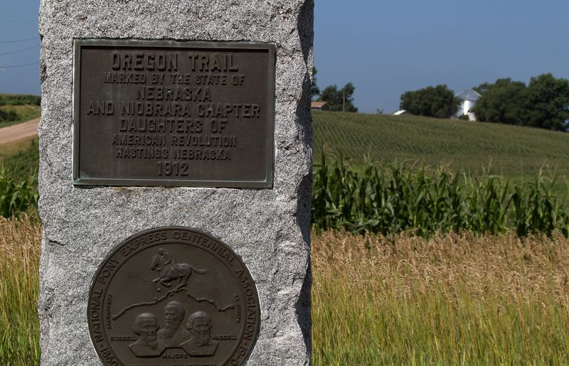 Oregon Trail Monument near Hastings-0194