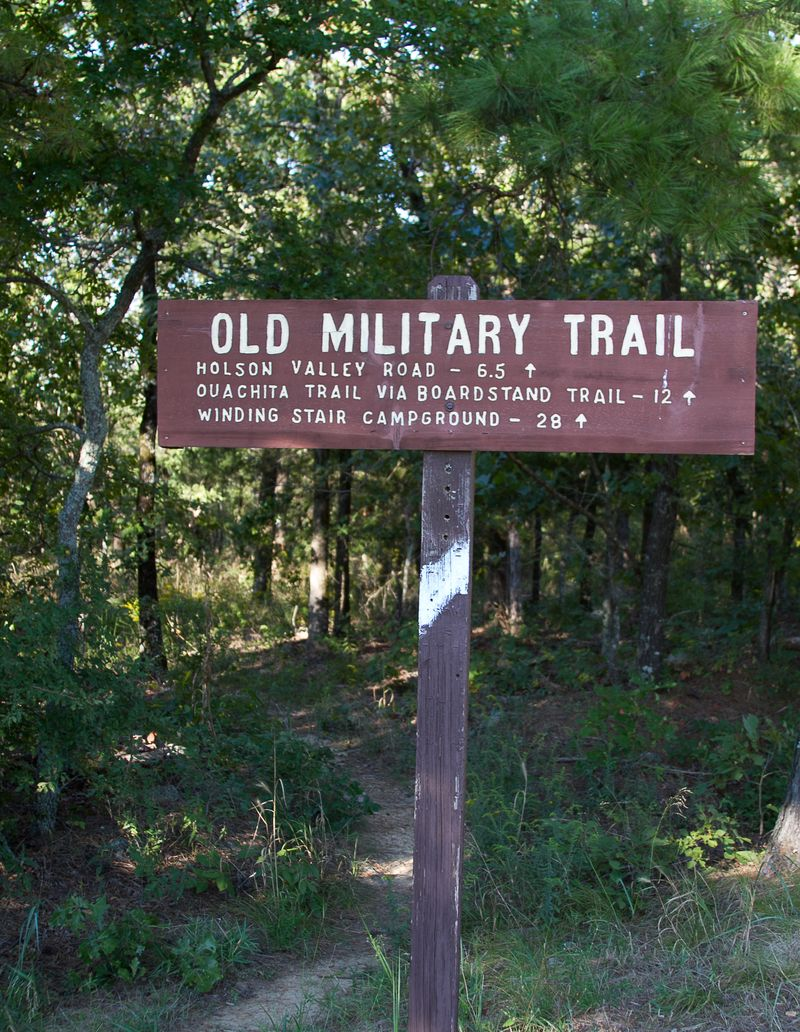 Old Military Trail near Talihina Oklahoma-1637
