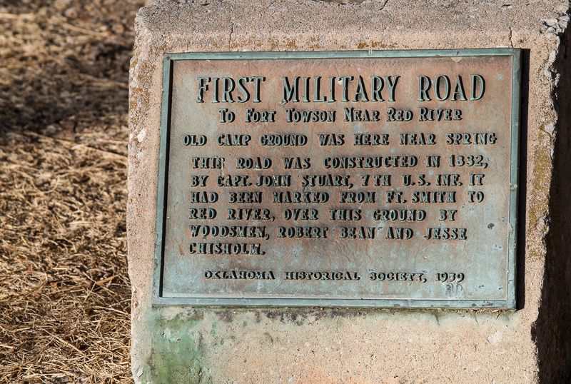First Military Road Marker mentions Jesse Chisholm-1643