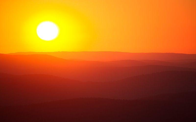 Sunset near Talihina Oklahoma-1832