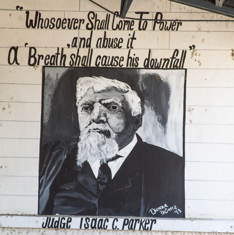 Judge Isaac Parker Mural  at Ft. Smith Arkansas-1872