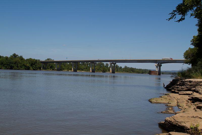 Arkansas River in Ft. Smith-1943