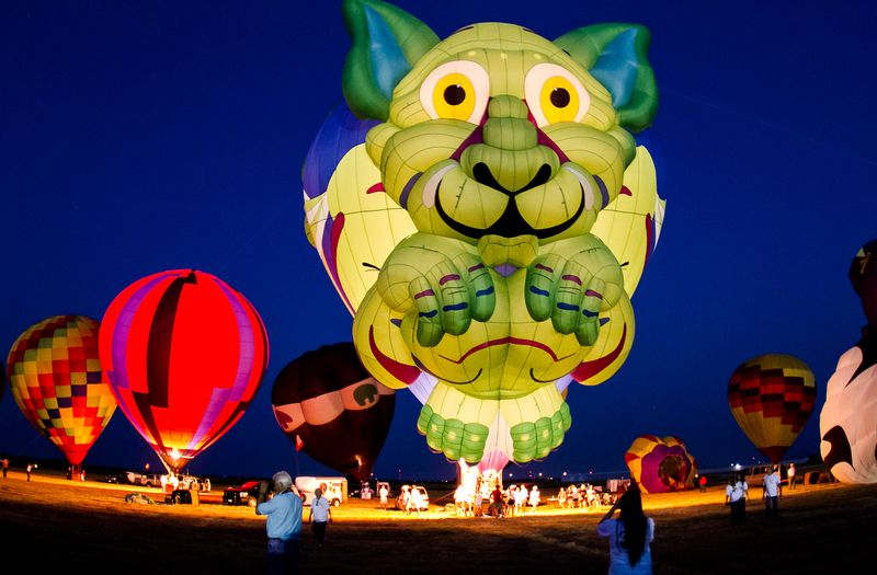Hot Air Balloon Festival in Gainesville Texas -2801