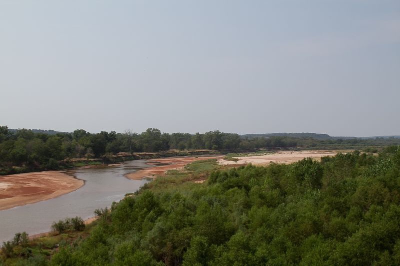 Red River near Taovayas Memorial Bridge near Spanish Fort-2160