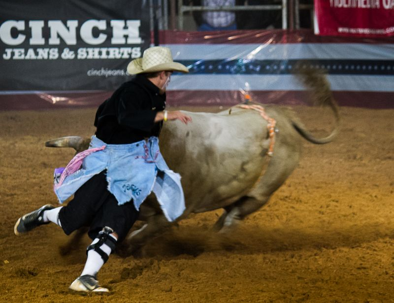 Rodeo Bullfight Finals Ardmore Oklahoma September 21st 2013-3856