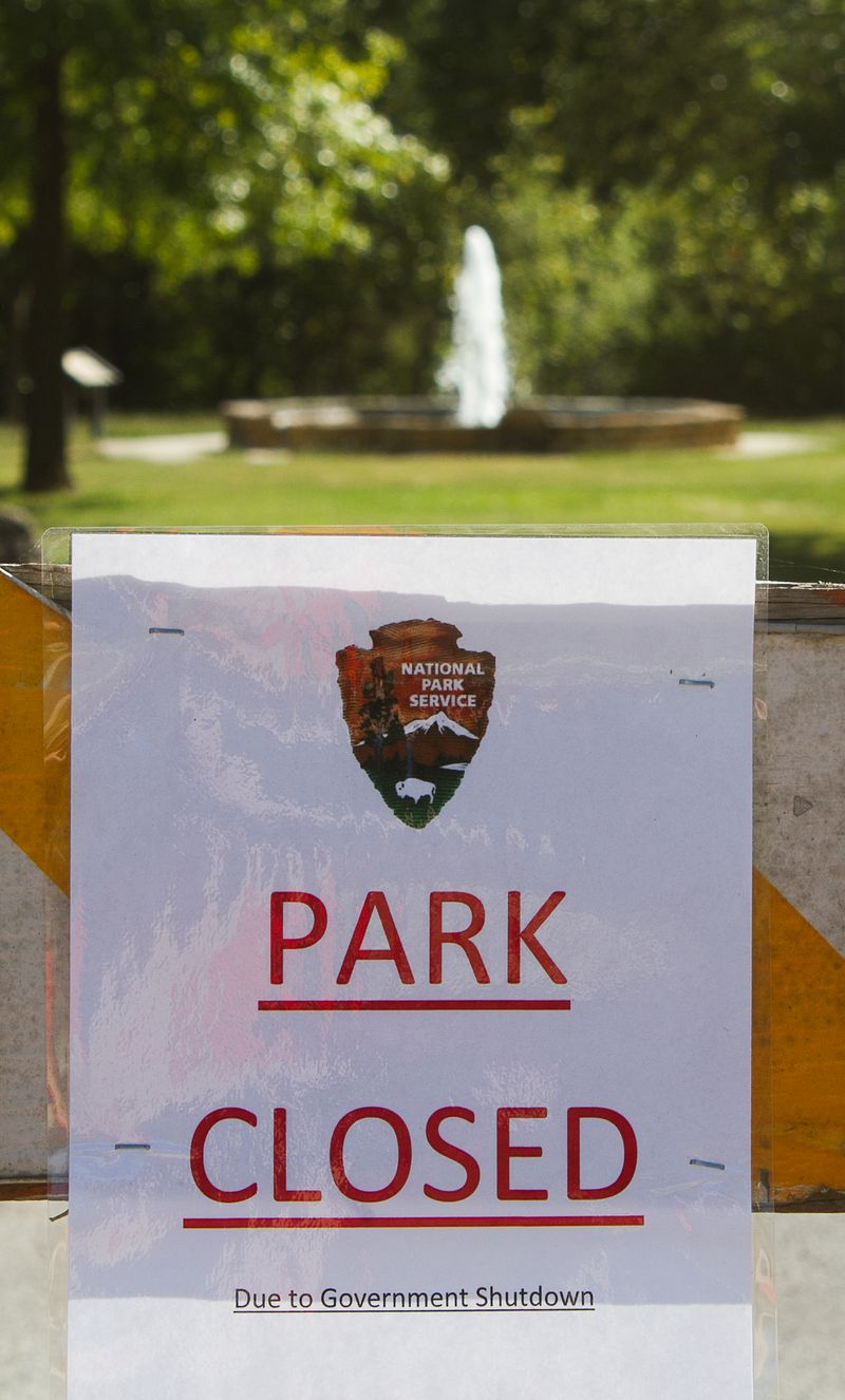 Government Shutdown of Chickasaw National Recreation Area in Sulphur Oklahoma-4489