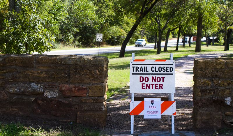 Government Shutdown of Chickasaw National Recreation Area in Sulphur Oklahoma-4482