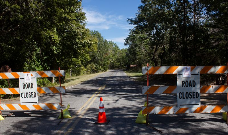 Government Shutdown of Chickasaw National Recreation Area in Sulphur Oklahoma-4460