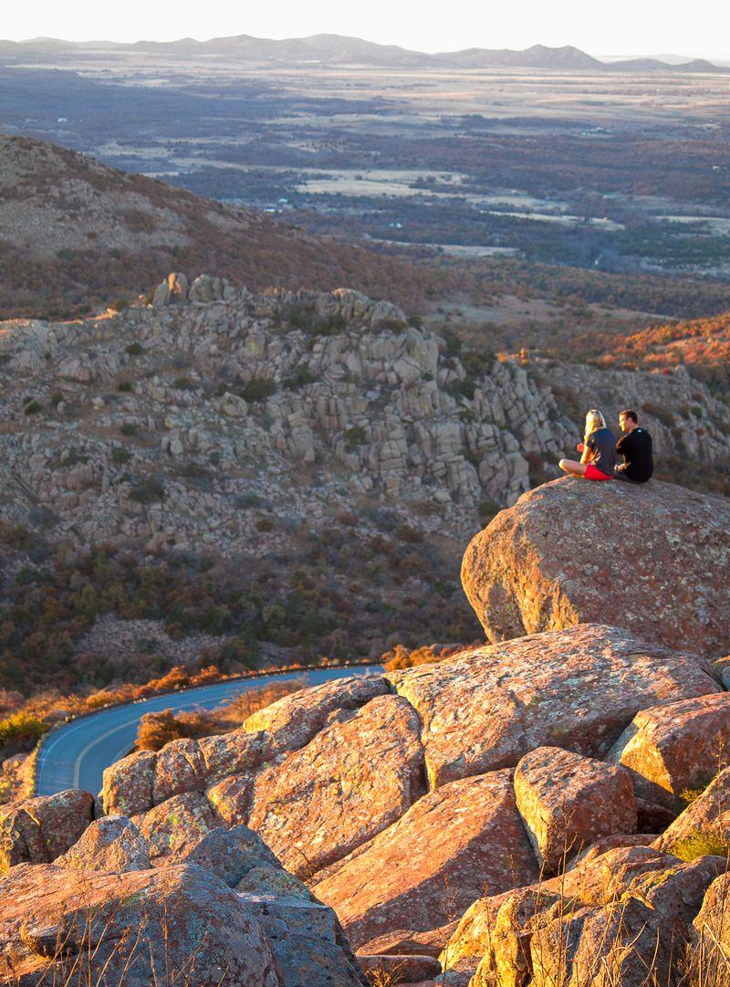 On top of Mount Scott near Lawton OK-6318