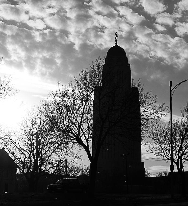 Nebraska Capitol in Black and White-6666