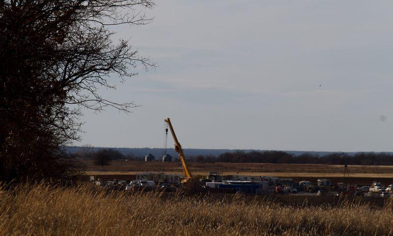 Oil Derrick Rural Stephens County Oklahoma-7063