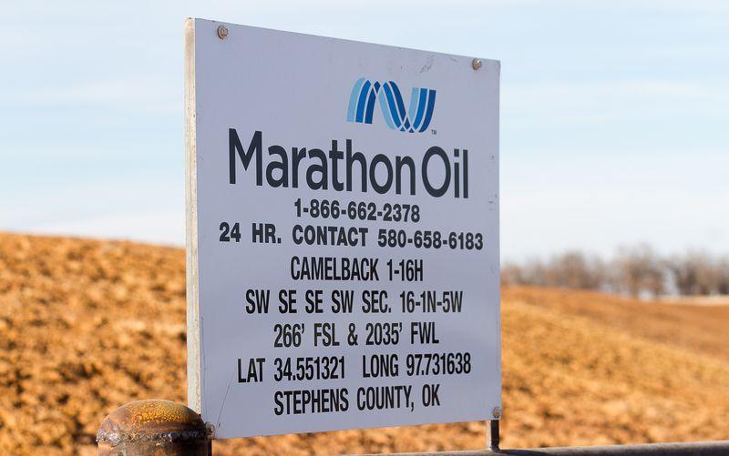 Marathon Oil in Rural Stephens County Oklahoma-7119