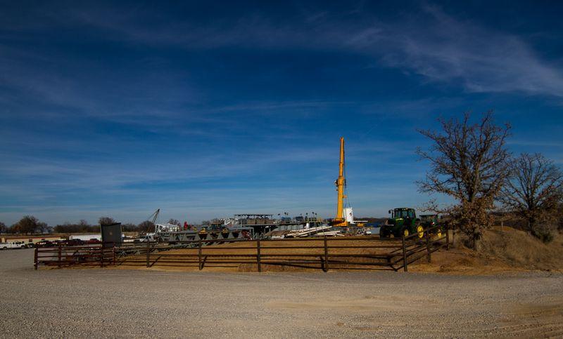 Marathon Oil in Rural Stephens County Oklahoma-7126
