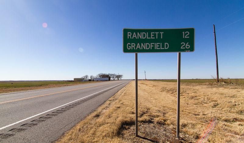 Highway 70 to Randlett and Grandfield-8275