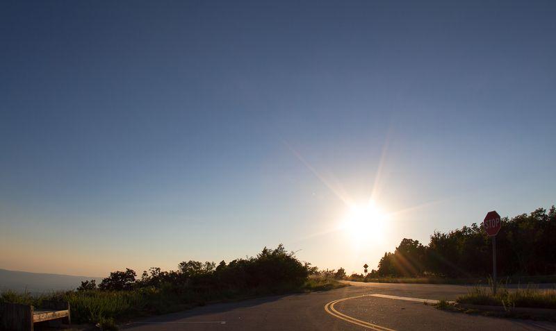 Sunset  on Talimena drive-1713