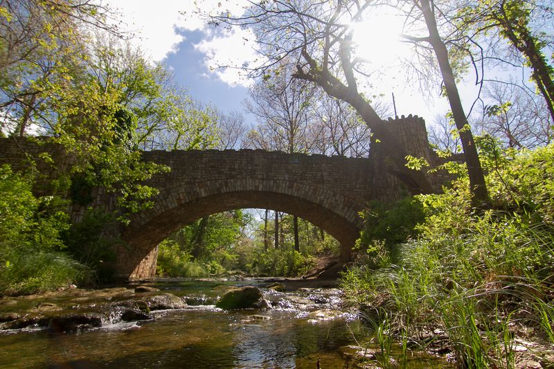 Lincoln Bridge in Sulphur Oklahoma at the Chickasaw National Recreation Area -3721