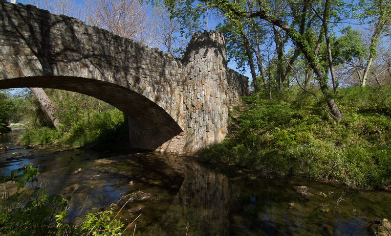 Lincoln Bridge in Sulphur Oklahoma at the Chickasaw National Recreation Area -3699