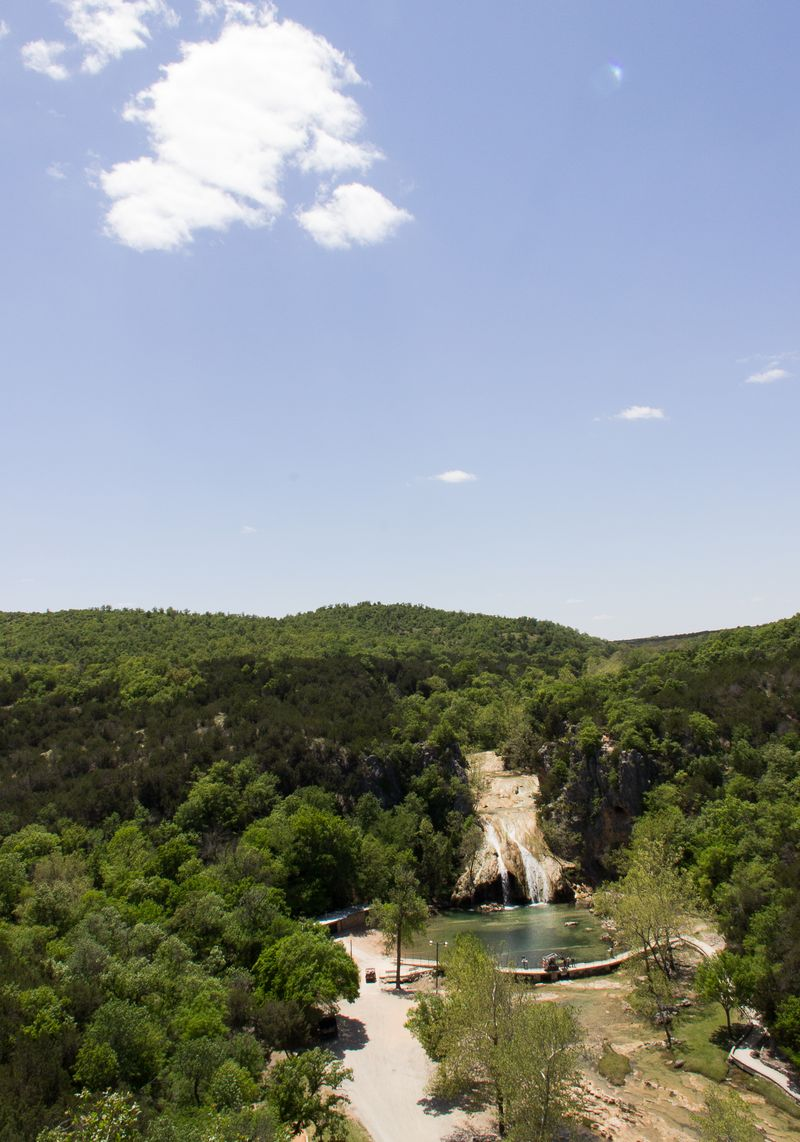 Turner Falls in the Arbuckle Mountains Davis Oklahoma -8297
