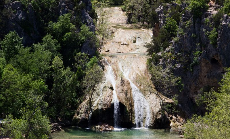 Turner Falls in the Arbuckle Mountains Davis Oklahoma -8292