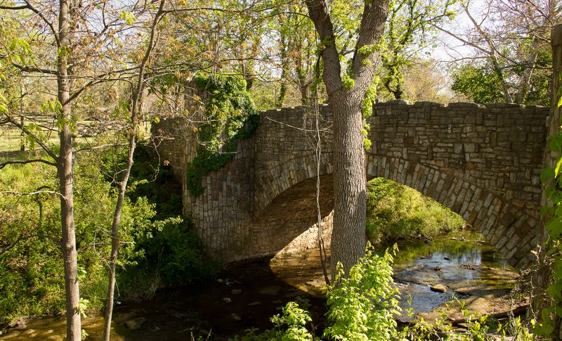 Lincoln Bridge in Sulphur Oklahoma at the Chickasaw National Recreation Area -8161
