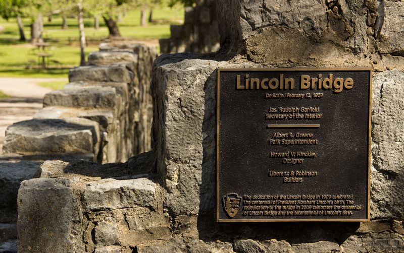 Lincoln Bridge in Sulphur Oklahoma at the Chickasaw National Recreation Area -8171