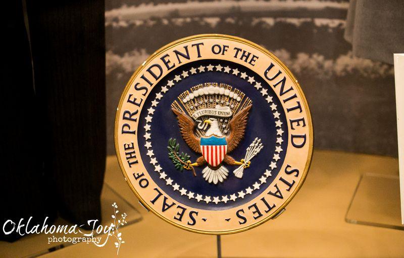 20140602-IMG_1838Joy FranklinEisenhower's Presidential Seal in Abilene Kansas