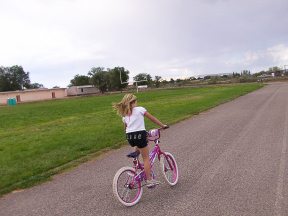Grace riding her bike -1