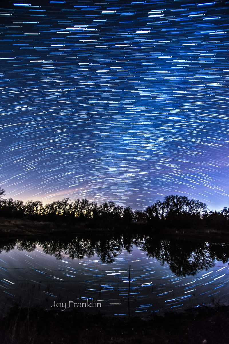 Star Trail on the Pond small wm-