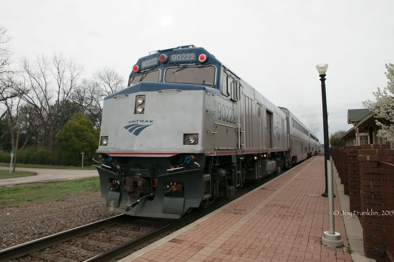 Heartland Flyer Amtrak at Pauls Valley Oklahoma by Joy Franklin-7857