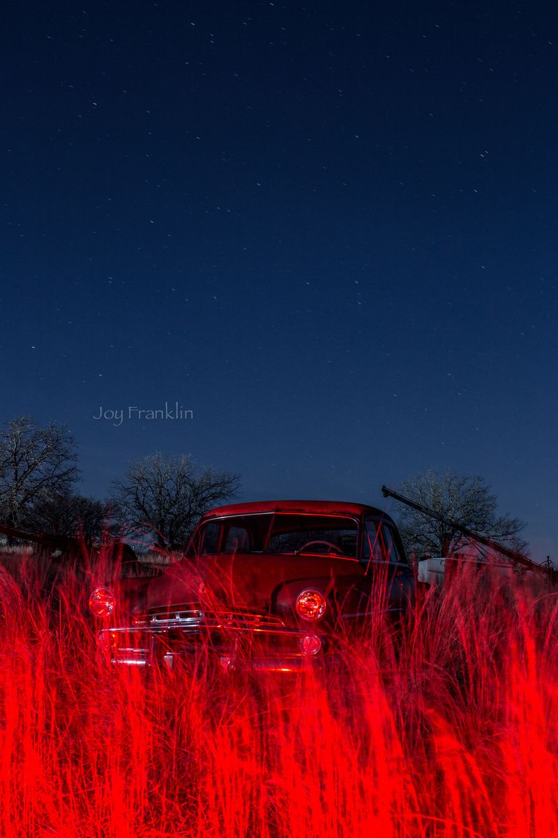 Shooting Stars -light painting old cars Franklin2015-1