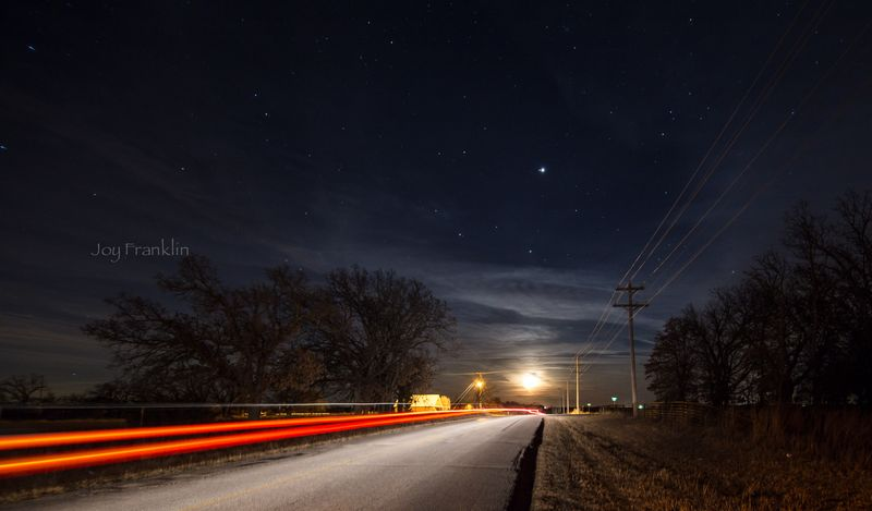 Light Trail on Plato -1