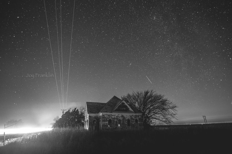 Abandoned Church near Walters at Night-4414