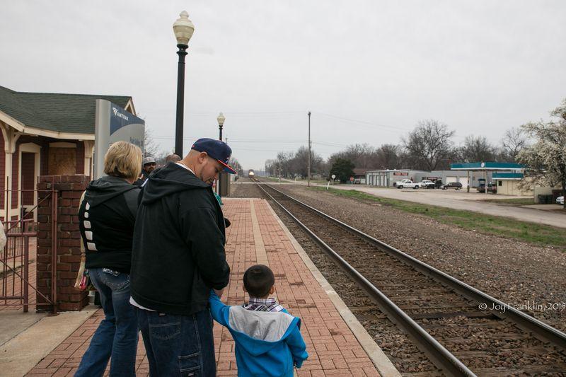 Heartland Flyer Amtrak at Pauls Valley Oklahoma by Joy Franklin-7815