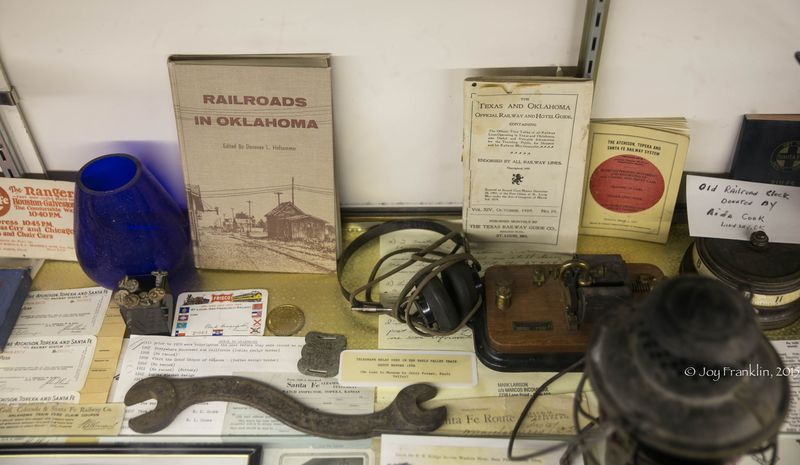 Pauls Valley Train Depot Museum BNSF Train-7862